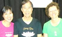 Meister Li Junfeng und Jing und Ulrike Schäfer, Kanada
